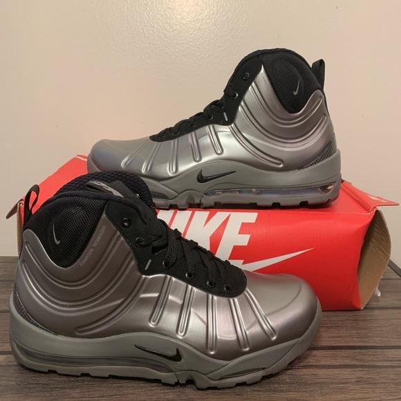 af45b30b4 Nike Air Bakin Posite Grey Silver Mens Shoes